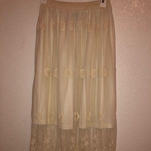 Long cream skirt